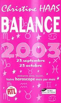 Balance 2003
