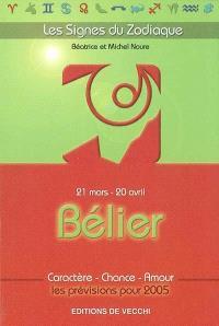 Bélier : 21 mars-20 avril : caractère, chance, amour, les prévisions pour 2005