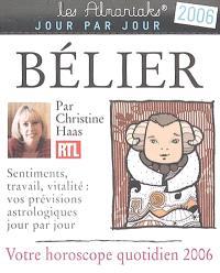 Bélier : votre horoscope quotidien 2006 : sentiments, travail, vitalité, vos prévisions astrologiques jour par jour