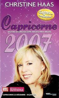 Capricorne 2007 : 22 décembre-20 janvier
