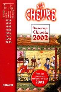 Horoscope chinois 2002 : la chèvre