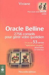 Oracle Belline, 2.756 conseils pour gérer votre quotidien ou 2.756 associations de 2 cartes (les coupes)