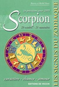 Scorpion, 23 octobre-21 novembre, les prévisions pour 2003 : caractère, chance, amour