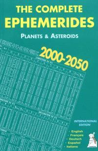 The complete ephemerides 2000-2050 : 0h TDT