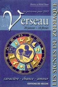 Verseau, 20 janvier-18 février, les prévisions pour 2003 : caractère, chance, amour