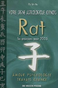 Votre signe astrologique chinois en 2005 : rat : amour, psychologie, travail, chance