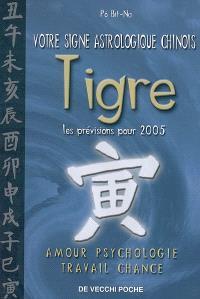 Votre signe astrologique chinois en 2005 : tigre