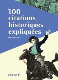 100 citations historiques expliquées