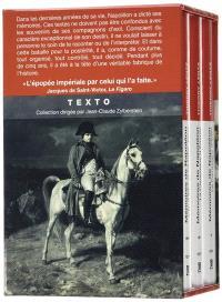 Mémoires de Napoléon : coffret 3 volumes
