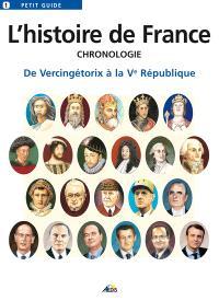 L'histoire de France : chronologie : de Vercingétorix à la Ve République