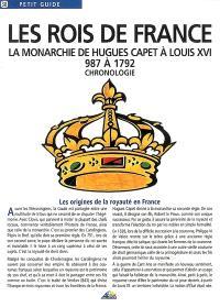 Les rois de France : la monarchie de Hugues Capet à Louis XVI, 987 à 1792 : chronologie