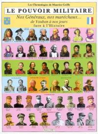 Le pouvoir militaire : nos généraux, nos maréchaux... de Vauban à nos jours : face à l'histoire