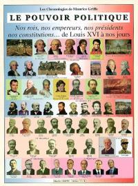 Le pouvoir politique : nos rois, nos empereurs, nos présidents, nos constitutions... de Louis XVI à nos jours
