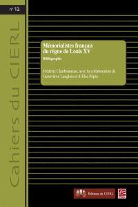 Mémorialistes français du règne de Louis XV  : bibliographie