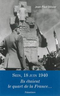 Sein, 18 juin 1940 : ils étaient le quart de la France...