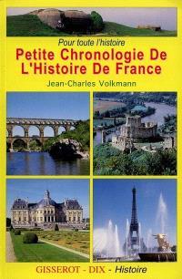 Pour toute l'histoire, petite chronologie de l'histoire de France