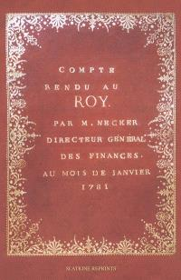 Compte rendu au roy (1781)