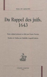 Du rappel des Juifs : 1643