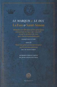 Le marquis et le duc : La Fare et Saint-Simon
