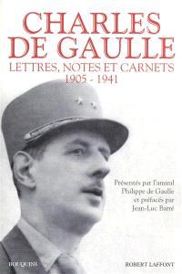 Lettres, notes et carnets. Volume 1, 1905-1941