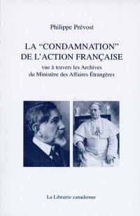 La condamnation de l'Action française : vue à travers les Archives du Ministère des affaires étrangères
