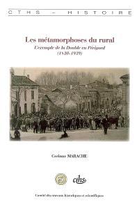 Les métamorphoses du rural : l'exemple de la Double en Périgord (1830-1939)
