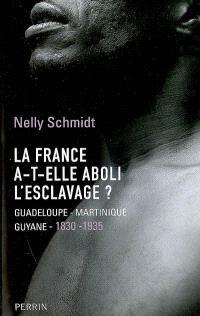 La France a-t-elle aboli l'esclavage ? : Guadeloupe, Martinique, Guyane (1830-1935)