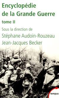 Encyclopédie de la Grande Guerre. Volume 2