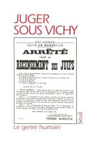Juger sous Vichy