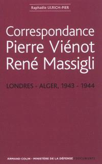 Correspondance Pierre Viénot, René Massigli : Londres-Alger, 1943-1944