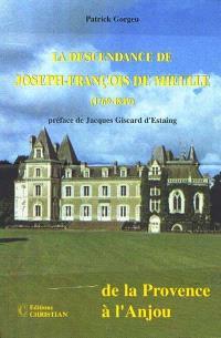 La descendance de Joseph-François de Mieulle (1769-1849) : de la Provence à l'Anjou