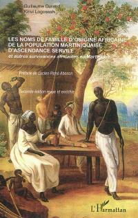 Les noms de famille d'origine africaine de la population martiniquaise d'ascendance servile