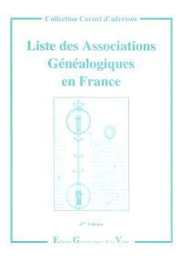 Liste des associations généalogiques en France