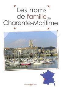 Les noms de famille de Charente-Maritime