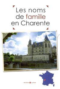 Les noms de famille en Charente