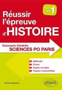 Tout en un pour réussir l'épreuve d'histoire au concours d'entrée Sciences-Po Paris