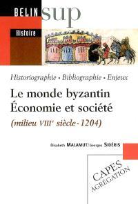 Le monde byzantin, économie et société (milieu VIIIe siècle-1204) : historiographie, bibliographie, enjeux