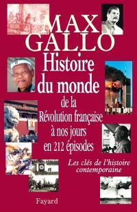 Histoire du monde de la Révolution à nos jours
