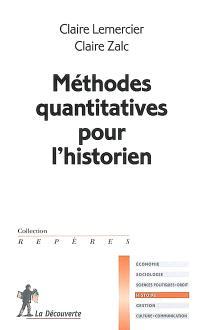 Méthodes quantitatives pour l'historien