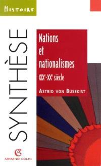 Nations et nationalismes aux XIXe et XXe siècles