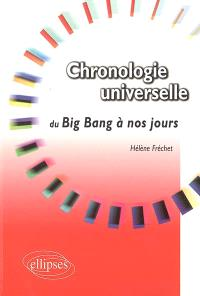 Chronologie universelle du big bang à nos jours