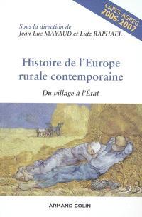Histoire de l'Europe rurale contemporaine : du village à l'Etat : Capes-agreg, 2006-2007