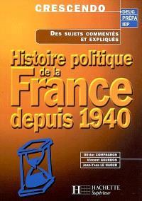Histoire politique de la France depuis 1940