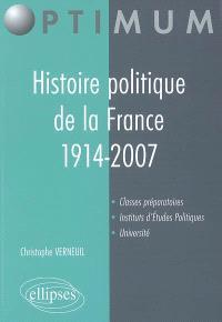 Histoire politique de la France, 1914-2007