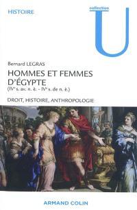 Hommes et femmes d'Egypte (IVe s. av. n.è.-IVe s. de n.è.) : droit, histoire, anthropologie