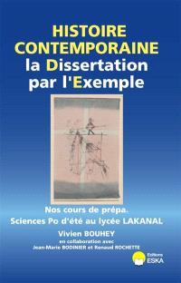 La dissertation en histoire contemporaine par l'exemple : cours de prépa Sciences Po d'été au lycée Lakanal