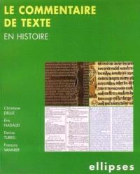 Le commentaire de texte en histoire