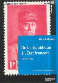 Histoire de la France, De la république à l'Etat français, 1918-1944