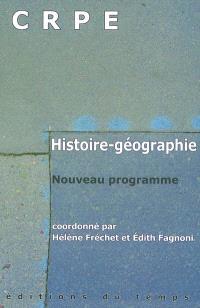 CRPE : histoire-géographie : nouveau programme