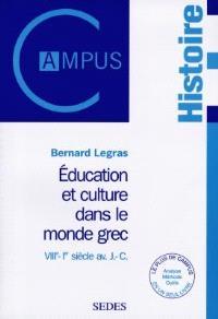 Education et culture dans le monde grec : VIIIe-Ier siècle av. J.-C.